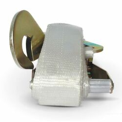 2 X 13and039 Ratchet Straps Tie Down White 5000 Lb Capacity Tent Inflatable Cargo