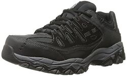 77055 4e Wide Skechers Mens Cankton Work Shoes Steel Toeeh Black Char A1
