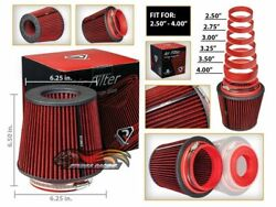 Cold Air Intake Filter Universal Round/cone Red For All Mustang All Models