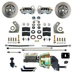 Mopar B And E Body Front Power Disc Brake Conversion Kit With 4 Piston Calipers