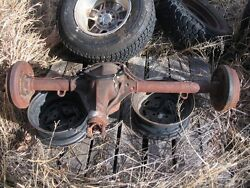 1946-1970 Willys Kaiser Jeep Cj- 2a 3a 3b 5 6 Complete Rear Axle Drum To Drum