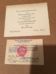 Rare Vintage Joint Task Force One Atomic Bomb Test Operation Crossroads And More