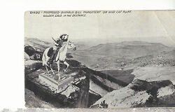 Proposed Buffalo Bill Monument Wild Cat Point Golden Co Unused Postcard 1717