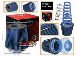 Cold Air Intake Dry Filter Universal Round Blue For Executive/custom/5th Avenue