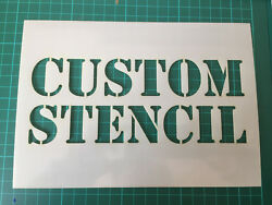 Custom Stencil Strong 500 Micron reusable mylar reverse graffiti power washing