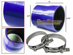 2.75 To 2.5 Silicone Hose/intercooler Pipe Coupler Blue+t-bolt Clamp For Acura
