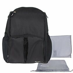 Damero Eco Lightweight Travel Diaper Backpack Changing Bag With Insulated Bottle