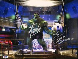 Stan Lee & Eric Bana Signed 11x14 Photo PSADNA COA Incredible Hulk Auto Picture