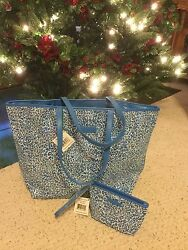 Vera Bradley Mesh Sequin Tote with Matching Wristlet. NWT