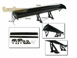 Gt Wing Type S Aluminum Double Deck Adjustable Rear Spoiler Black For Chevy 1
