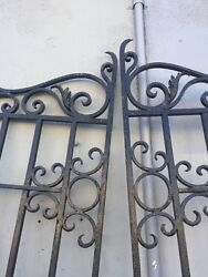 Driveway Gates Old Spanish Revival Iron Front Entry Gates 87x80w