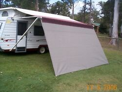 Shade Curtain/privacy Screen 1.8 X 3.0m 6x 9.8ft For Caravan Roll Out Awning