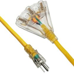 14awg Heavy Duty 15and039 25and039 50and039 75and039 100and039 Multi Outlet Sjtw 14/3 Out Extension Cord