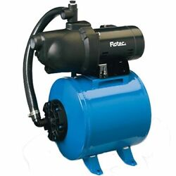 Flotec FP401215H - 8 GPM 12 HP Thermoplastic Shallow Well Jet Pump w 15 Gal...