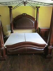 King Canopy Marble Bedroom 7 Pieces Real Marble