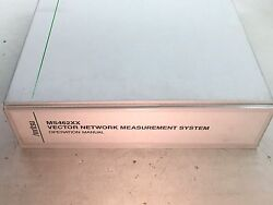 Anritsu Ms462xx Vector Network Measurement System Operation Manual 10410-00203