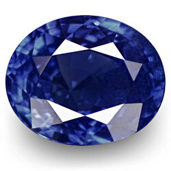 Igi Certified Burma Blue Sapphire 1.10 Cts Natural Untreated Royal Blue Oval