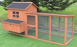 7.2' Chicken Coop Running Cage Backyard Poultry Hen House Bantam Extra Large
