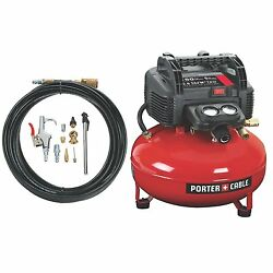 Oil-Free UMC Pancake Portable Air Tool Compressor with 13-Piece Accessory Kit