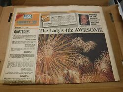 Usa Today Liberty '86 Special Section July 7 1986 Ex No Ml 022117nonjhe