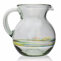 Curved Jug 2 Litre - Hand-blown From Recycled Glass