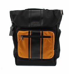 NWT Authentic Tumi Backpack Removable Crossbody in Nylon BlackOrange 068802DVC