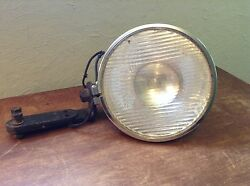 Lqqk Vintage Clear Glass Monogram Old Search Spot Light Lamp With Bracket Mount