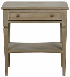 28 Set Of Two Side Table Night Stand Mahogany Wood Natural Brown Weathered