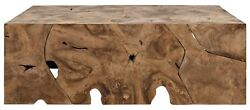 47 Long Coffee Table Old Reclaimed Teak Wood Rustic Natural Finish Rectangle