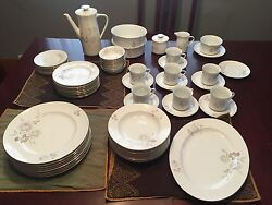 Never Used Haviland China Set Discontinued Sweet Heart Rose Pattern 65 Piece