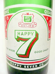 Vintage Acl Soda Pop Bottle Happy 7 Of Wilkes Barre, Pa-quart/ Non-lithiated