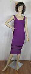 Victoria Beckham Tank Dress With Open Stitch Insets Purple Various Sizes