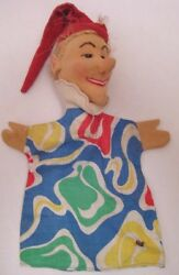 Old German Cloth Character Hand Puppet - Punch And Judy