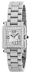 Chopard Happy Sport 5 Floating 1 Row Diamonds Square Women's Watch 27.8895-2004