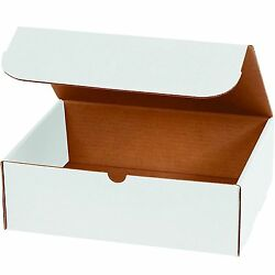 WHITE CORRUGATED MAILERS MANY SIZES 50 100 200 Shipping Packing Boxes Mailers $37.00