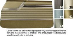1970 Oldsmobile Cutlass  S Coupe Front & Rear Door Panels - PUI