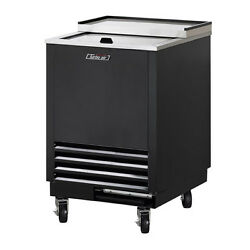 Turbo Air Tbc-24sb-gf-n6 Underbar 1 Lid Black Vinyl Ext. Glass Chiller And Froster