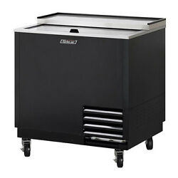 Turbo Air Tbc-36sb-gf-n Underbar 1 Lid Black Vinyl Ext. Glass Chiller And Froster