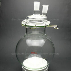 5000ml,glass Reaction Flask,5litre,24/40,two-neck,round Bottom Chemistry Reactor