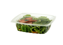 World Centric Rd-cs-24, 24-ounce Clear Ingeo Rectangular Deli Containers, 600/cs