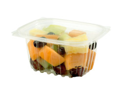 World Centric Rd-cs-16, 16-ounce Clear Ingeo Rectangular Deli Containers, 900/cs