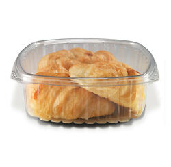 Placon Cs48 48-ounce Crystal Seal Clear Pet Combo Container With Flat Lid 200