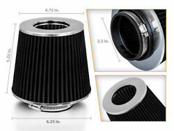 2.5 Short Ram Cold Air Intake Filter Round/cone Universal Black For Datsun