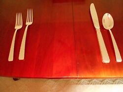Towle Sterling Silver 1962 Old Lace Flatware Silverware Set Of 53 Pieces