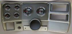 73-83 Gm Truck Silver Dash Carrier W/ Auto Meter American Muscle Gauges