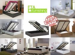 Wooden Faux Leather Diamante Fabric Ottoman Storage Beds All Sizes