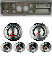 73-79 Ford Truck Silver Dash Carrier W/ Auto Meter 3-3/8 American Muscle Gauges
