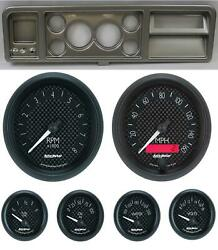 73-79 Ford Truck Silver Dash Carrier W/ Auto Meter 3-3/8 Gt Gauges