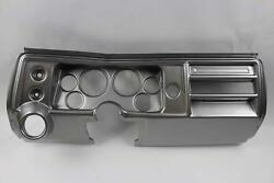 68 Chevelle Silver Dash Carrier Panel For 3-3/8 - 2-1/16 Gauges