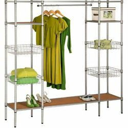 Honey Can Do Freestanding Steel Closet with Basket Shelves W